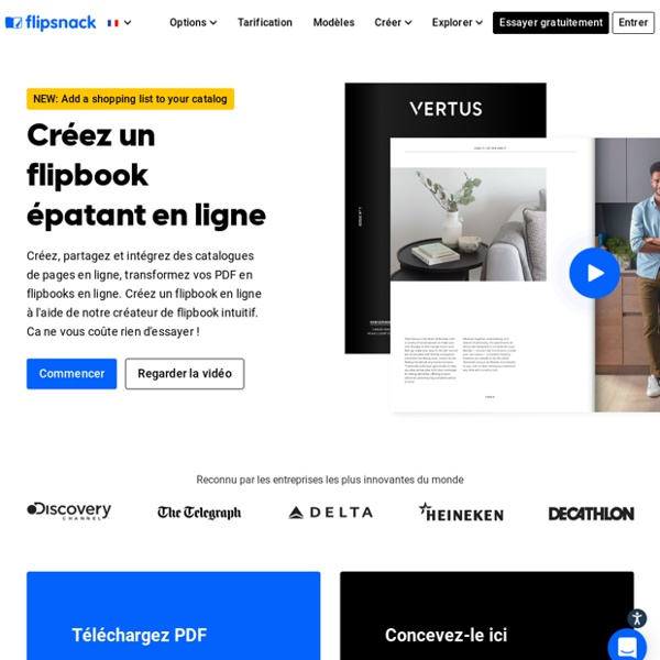 Flipsnack: un logiciel de creation de flipbook en HTML5- conversion facile de PDF à HTML5