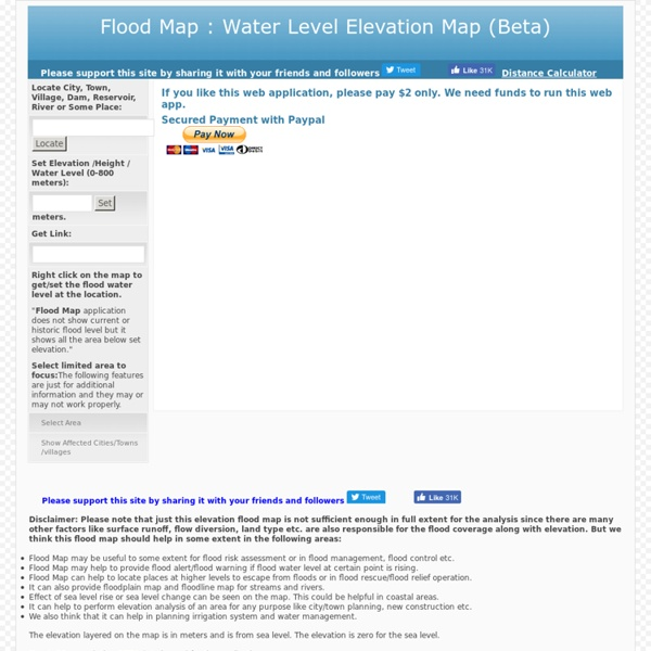 Flood Map: Water Level Elevation Map