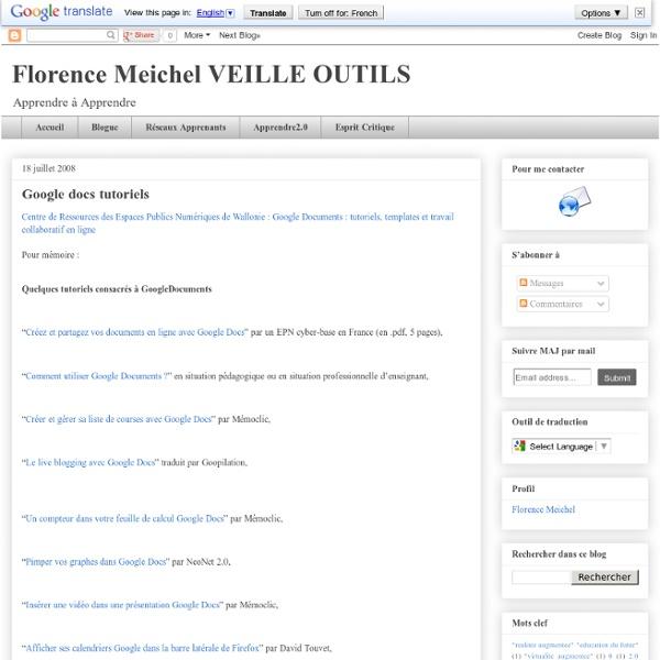 Google docs tutoriels