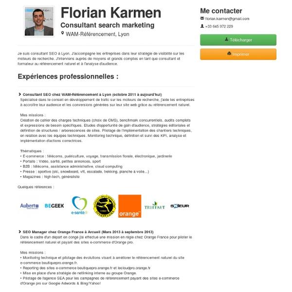 Florian Karmen, consultant SEO & search marketing