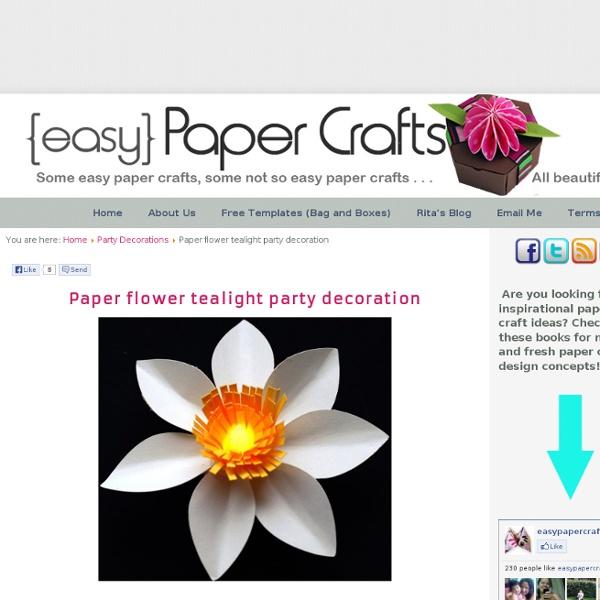 Paper Flower Tealight