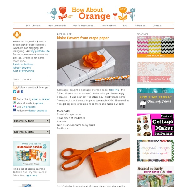 Make flowers from crepe paper