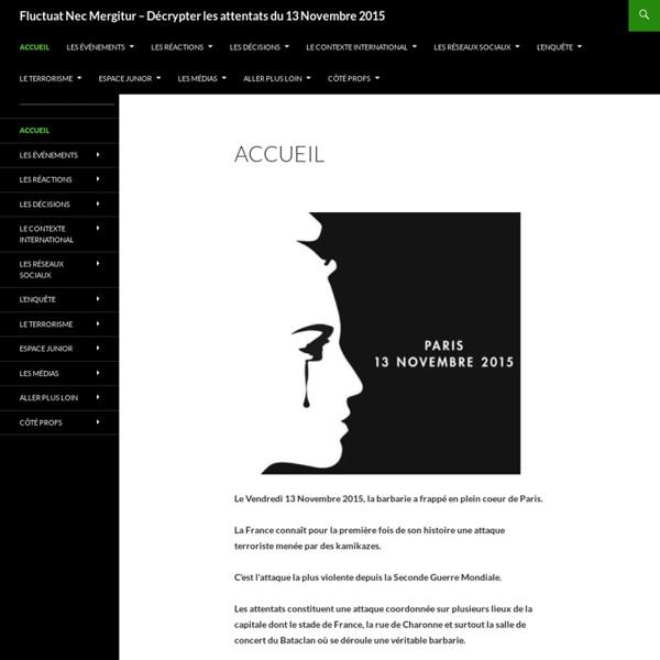 Fluctuat Nec Mergitur – Décrypter les attentats du 13 Novembre 2015