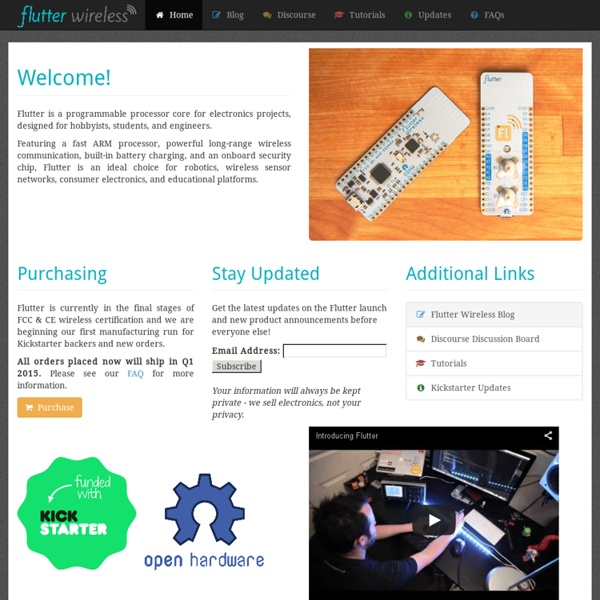 Flutter Wireless - Arduino with 1km+ range on Kickstarter