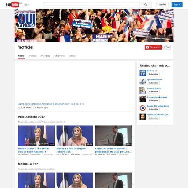 Marine Le Pen - Chaîne YouTube