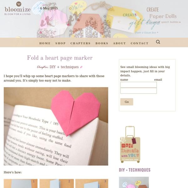 Fold a heart page marker