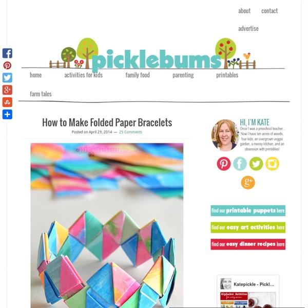 How to Make Folded Paper Bracelets picklebums.com
