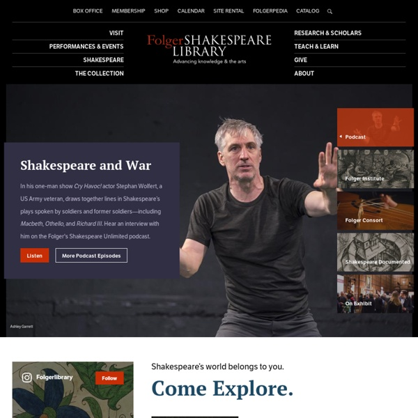 -Folger Shakespeare Library