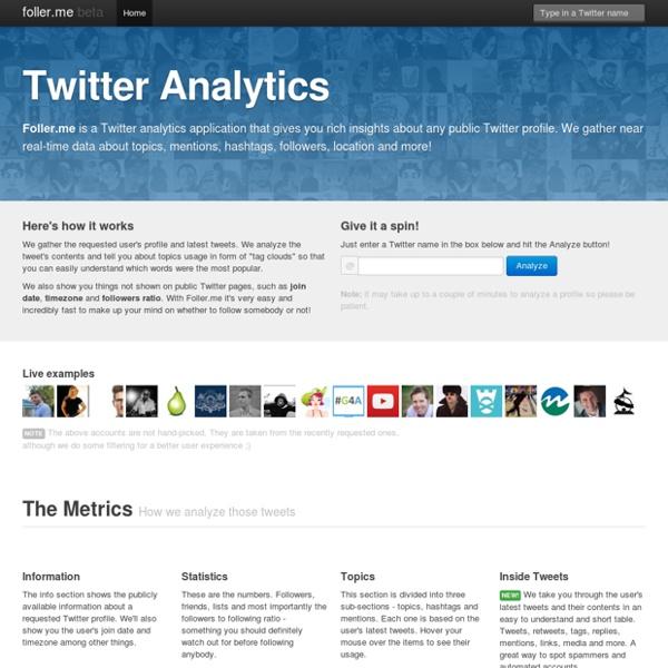 Foller.me Analytics for Twitter