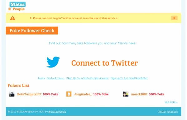 Status People Fake Follower Check — Social Media Management Platform for Business