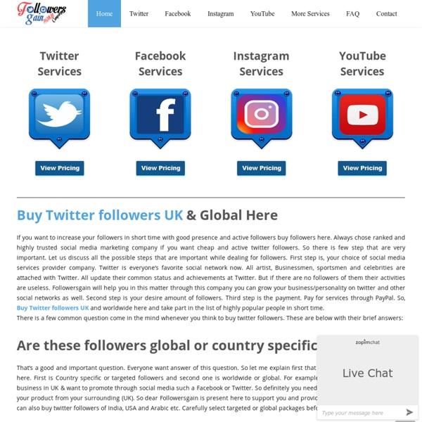 Buy Twitter Followers UK & Global From £1.99 - FollowersGain