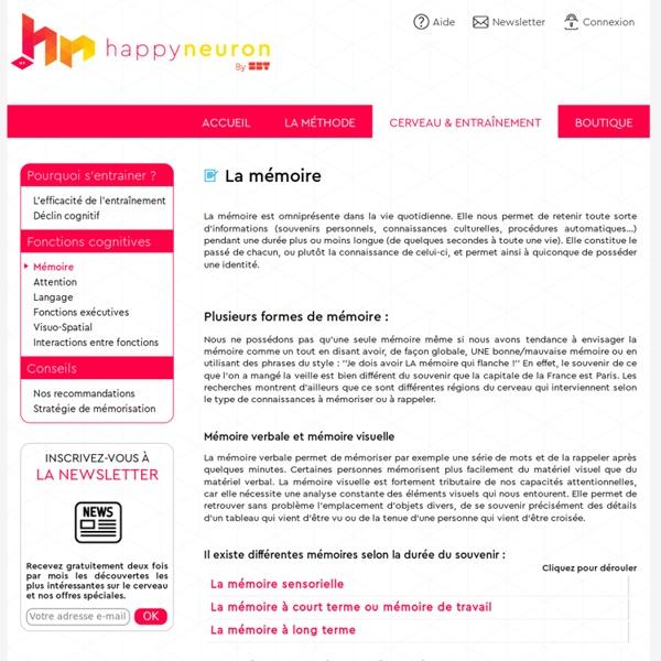 Fonction cognitive: la mémoire - HAPPYneuron