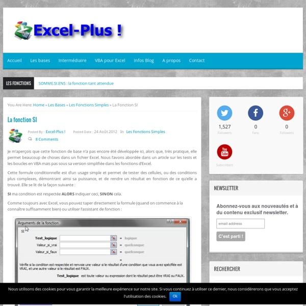 SI : la fonction conditionnelle dans Excel