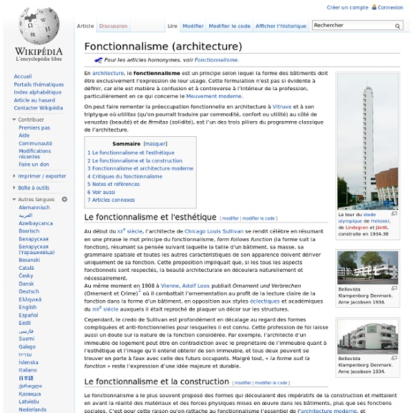 Fonctionnalisme (architecture)