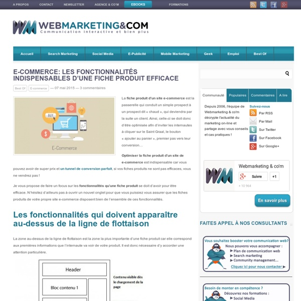 E-commerce: les fonctionnalités indispensables d'une fiche produit efficace