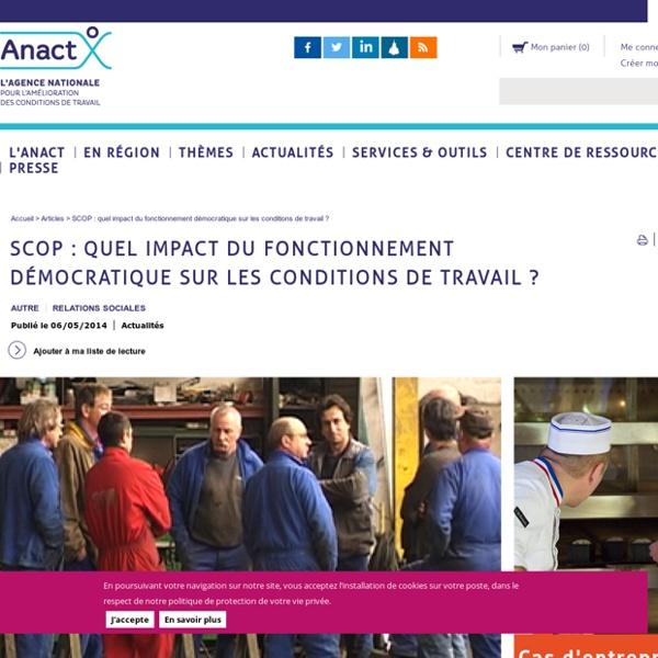SCOP : quel impact du fonctionnement démocratique sur les conditions de travail ?