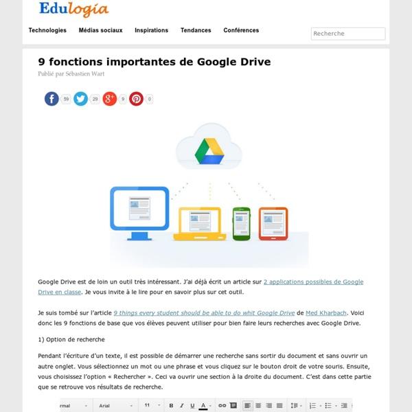 9 fonctions importantes de Google Drive