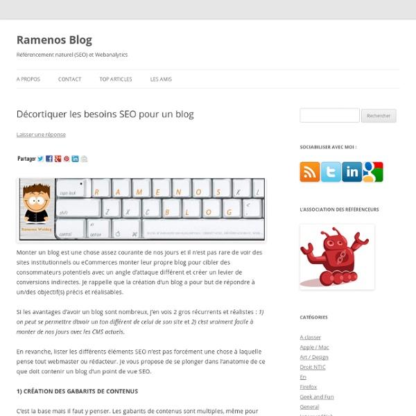 Les fondamentaux en SEO pour la création d'un blog
