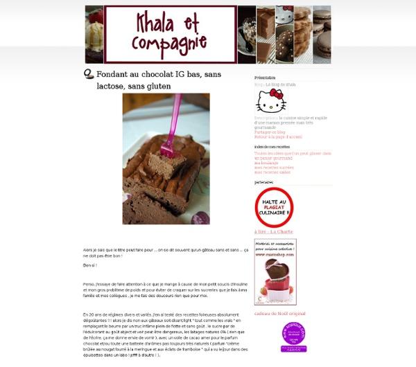Fondant au chocolat IG bas, sans lactose, sans gluten - Le blog de khala