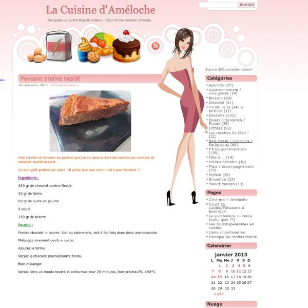 Fondant praliné Nestlé « La Cuisine d'Améloche
