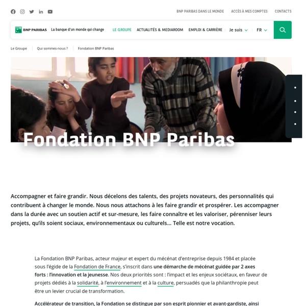 La Fondation BNP Paribas