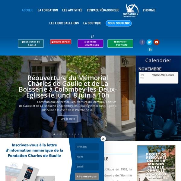 Charles de Gaulle, le site de référence