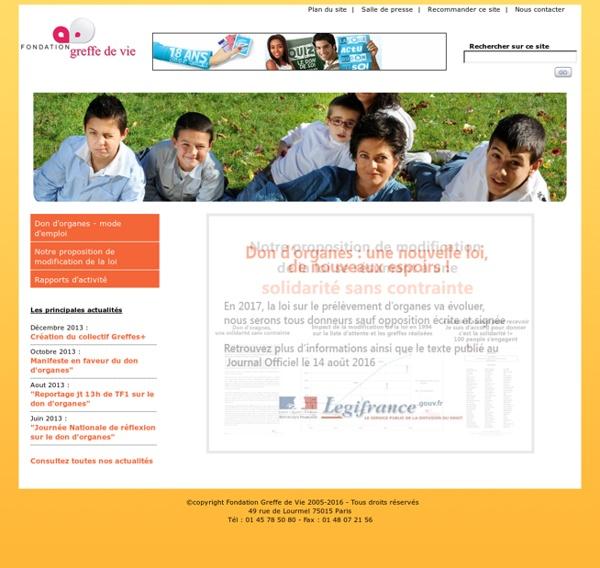 Fondation Greffe de Vie, pour le don d'organes et la greffe