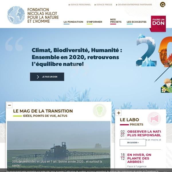 Fondation pour la Nature et l'Homme - Nicolas Hulot