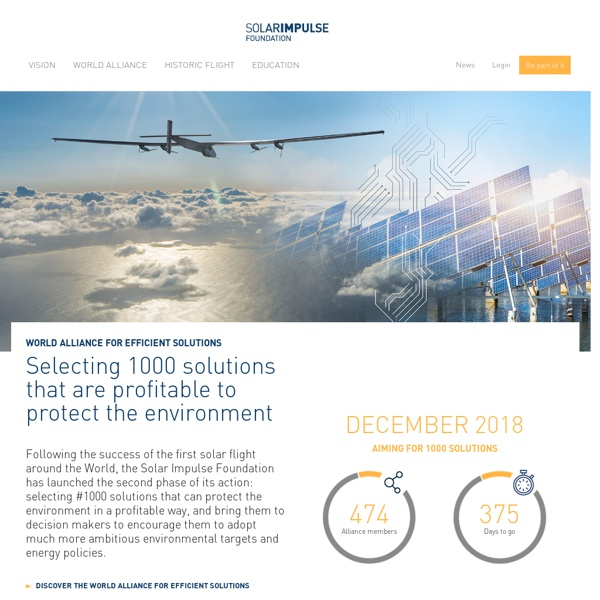 Solar Impulse Clean Technologies to Fly Around the World