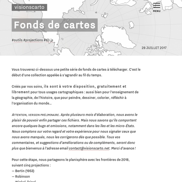 Fonds de cartes - Philippe Rivière - Visionscarto