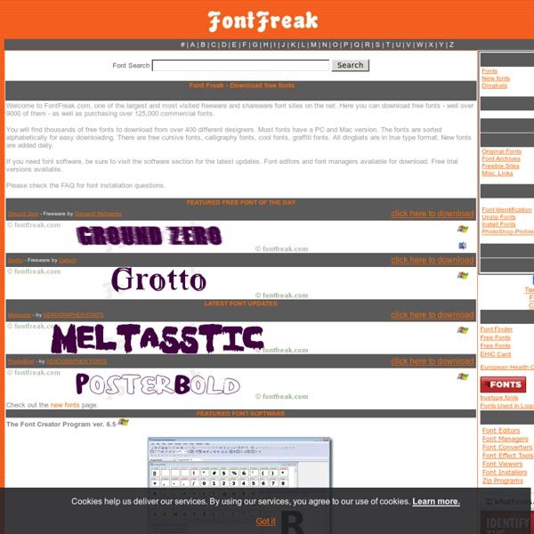 Font Freak - Download Free PC and Mac Fonts