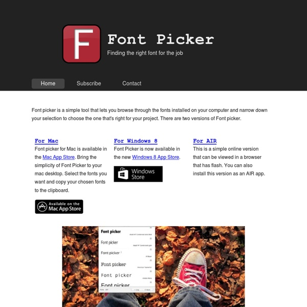 Font Picker - finding the right font for the job - Richard's Pro
