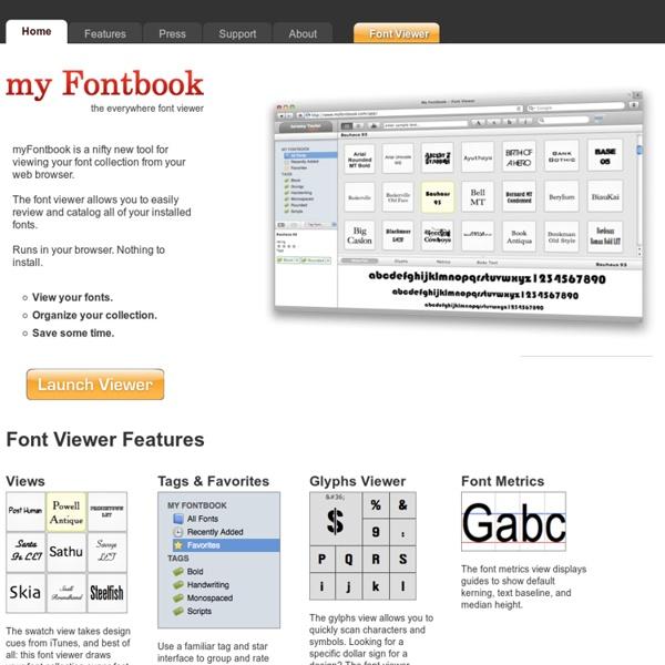 Font Viewer - myFontbook.com