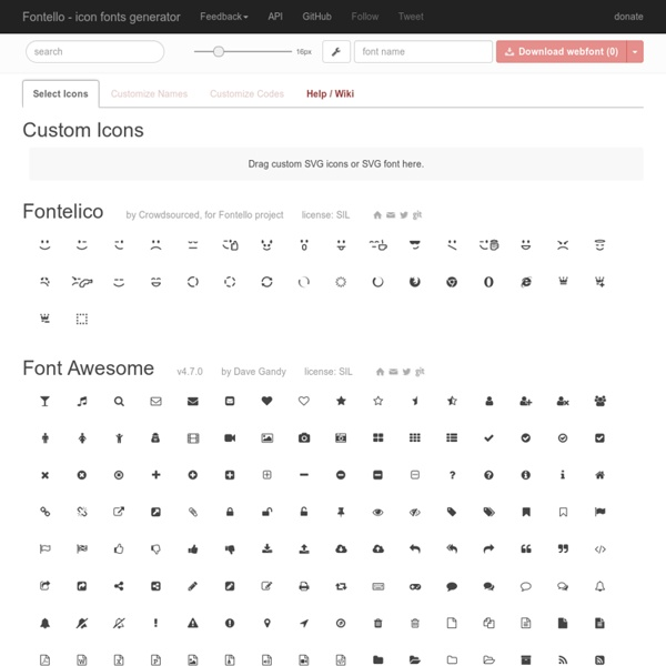Fontello - easy iconic fonts composer