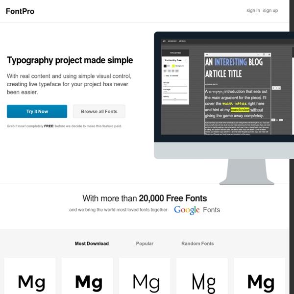 FontPro: Free Fonts and Web Fonts