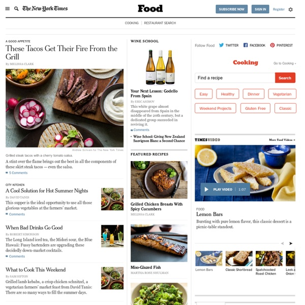 News on Food, Wine, Restaurants and Recipes - Diner's Journal Blog