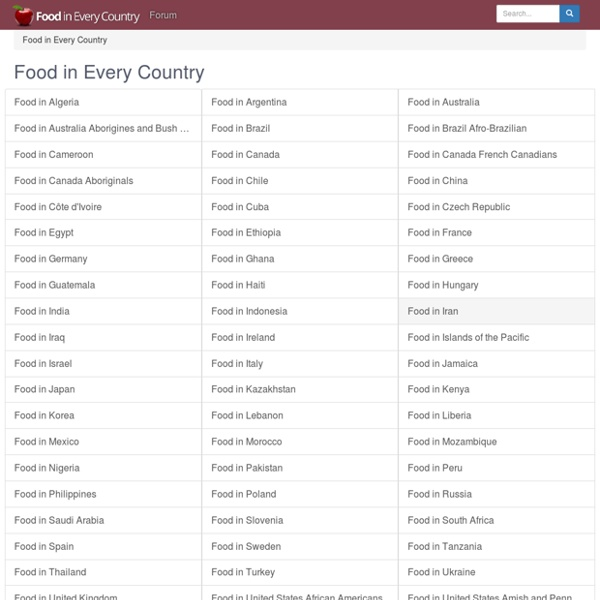 Food in Every Country