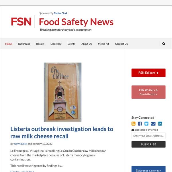 Food Recall & Food Poisoning Information & Alerts