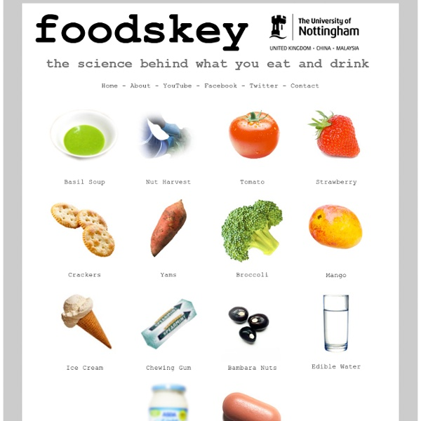 The Science of Food and Drink