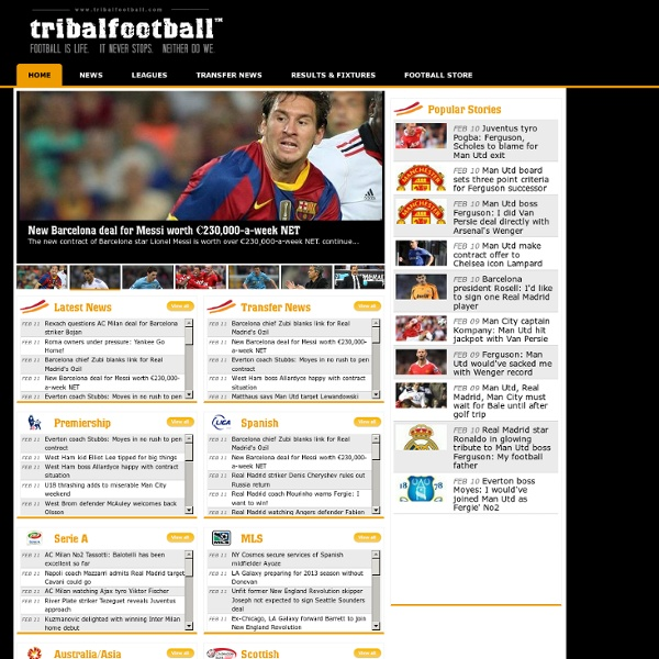 Football & Soccer News, Scores & Results - tribalfootball.com