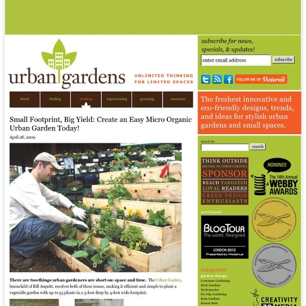Small Footprint, Big Yield: Create an Easy Micro Organic Urban Garden Today!