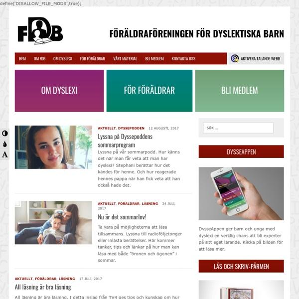 Föräldraföreningen för Dyslektiska Barn - FDB
