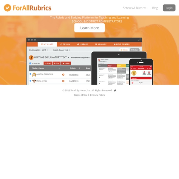 ForAllRubrics - Super Powered Rubrics