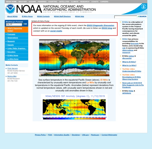 NOAA El Niño: Research, Forecasts and Observations