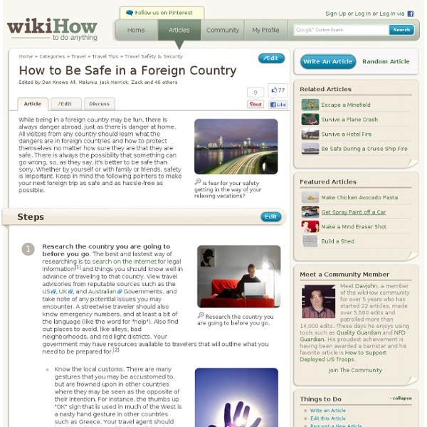 How to Be Safe in a Foreign Country