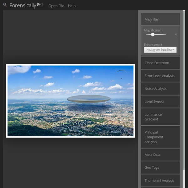 Forensically, free online photo forensics tools - 29a.ch