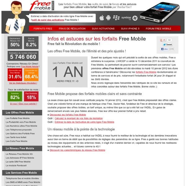 Free Mobile : les forfaits, les outils de suivi, le forum et les astuces par ToosurToo !