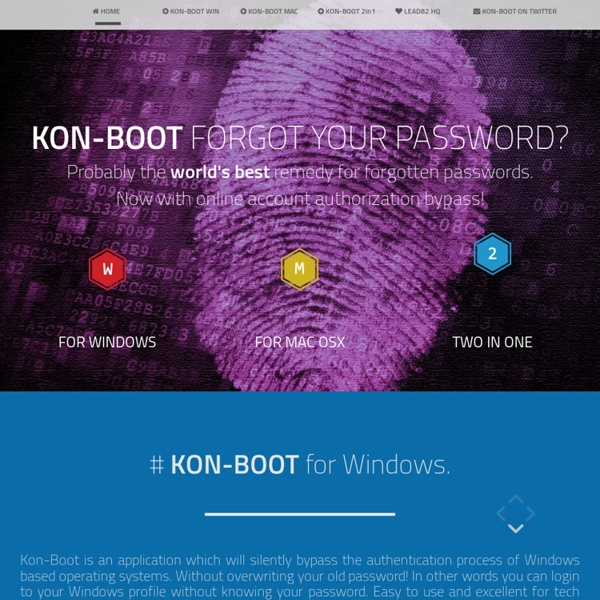 KON-BOOT - ULTIMATE WINDOWS/LINUX HACKING UTILITY :-)