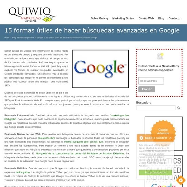 15 formas útiles de hacer búsquedas avanzadas en Google