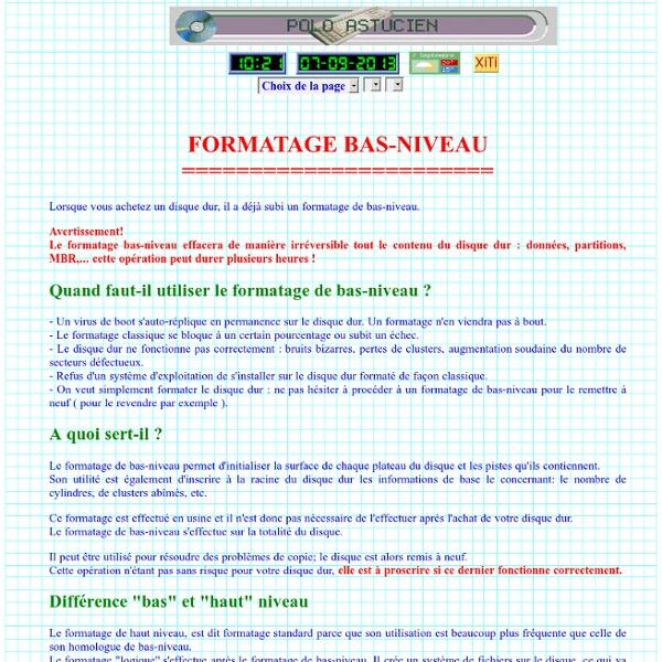 Formatage bas-niveau